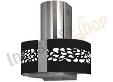 Cappa cucina moderna 76 td004bc dome jasmine inox vetro bianco