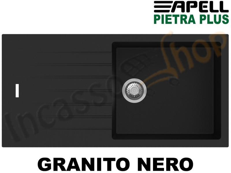 Lavello Incasso Pietra Plus 1 Vasca cm.100X50 Fragranite Nero ...