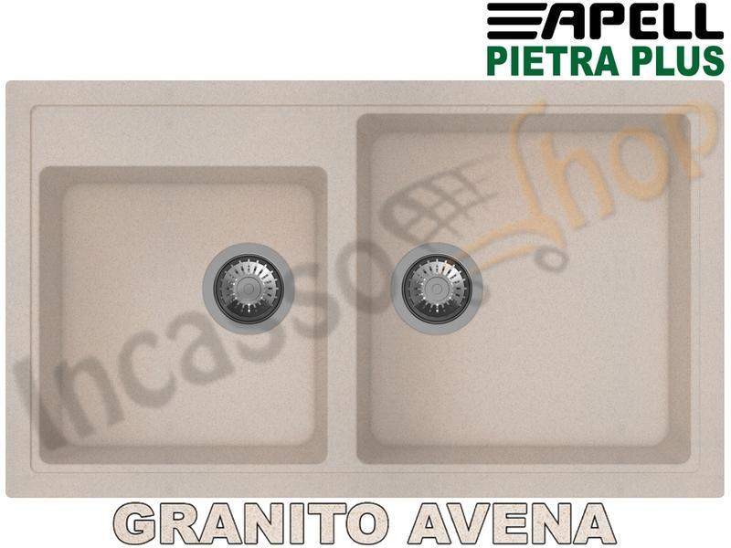 Granitek G51 Avena Lavello Elleci Quadra 350 Sottotop LGQ35051BSO 76X43,5 2 V