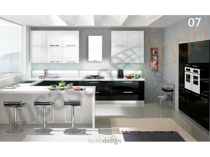 Cappa Cucina Moderna 42,5 TD023BC Tower Verniciata Bianca | Incasso ...
