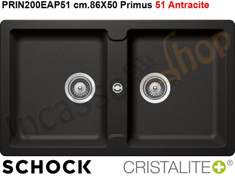 Lavello Cucina da Incasso Primus N200E cm.86X50 Cristalite ...