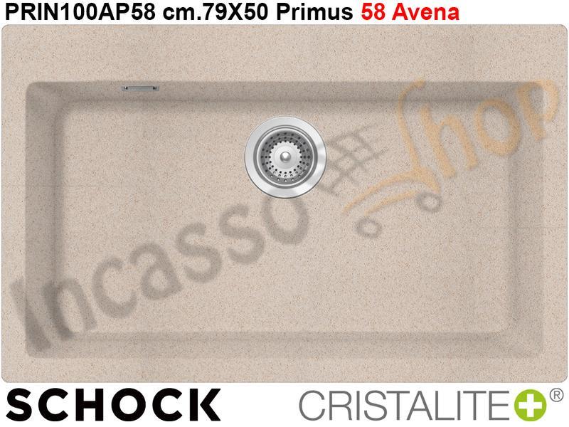 Lavello Cucina A Incasso.Lavello Cucina Da Incasso Primus N100xl Cm 79x50 Cristalite 58