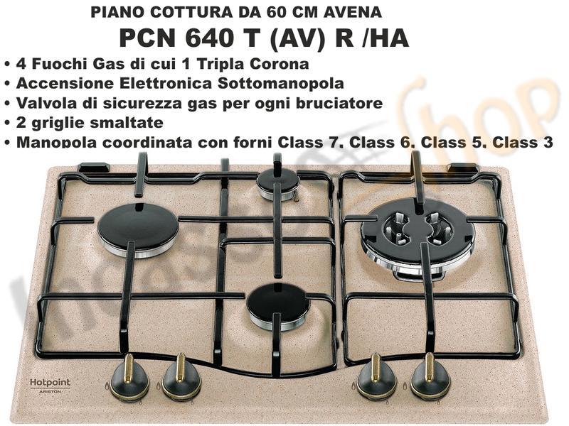 Piano Cottura PCN 640 T (AV) R /HA 4 Fuochi (di cui 1 Tripla Corona ...