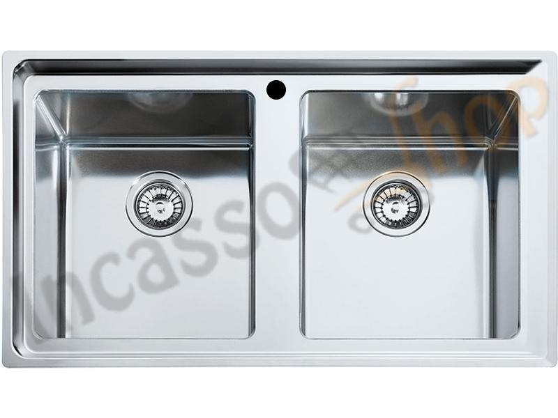 Lavello Franke Neptune Plus NPX 620 cm.86X5 2V Acciao Inox | Incasso ...