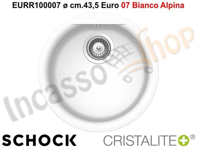 Lavelli Rotondi Da Incasso.Lavello Schock Linea Euro Eurr100007 Diametro Cm 43 5 1 Vasca
