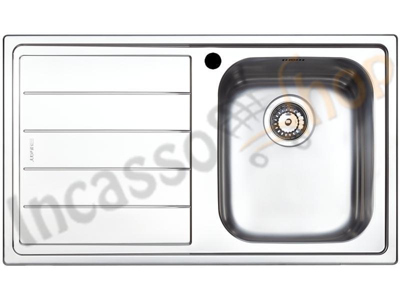 Lavello Cucina Linear 1 Vasca cm.86X50 Acciaio Inox Spazzolato ...