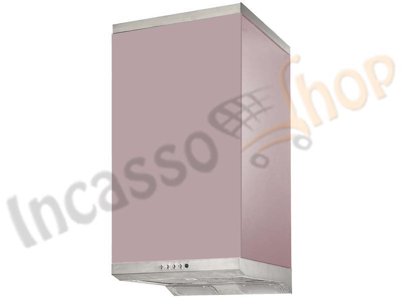 Cucine Moderne Glicine.Cappa Cucina Moderna 40 Td004gl Cube Inox Vetro Glicine