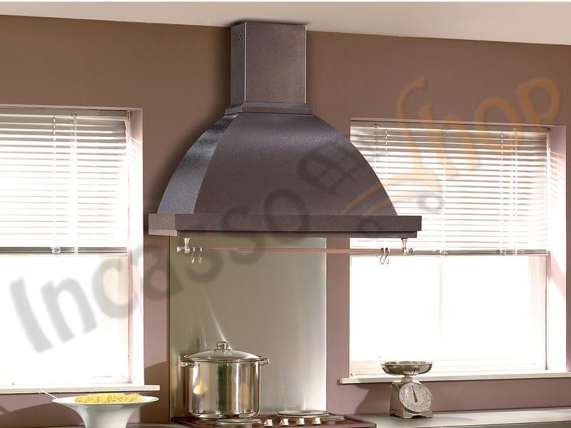 Cappa cucina rustica marta 90 struttura rame sottopensile serie incasso shop elettrodomestici - Cappa filtrante cucina ...