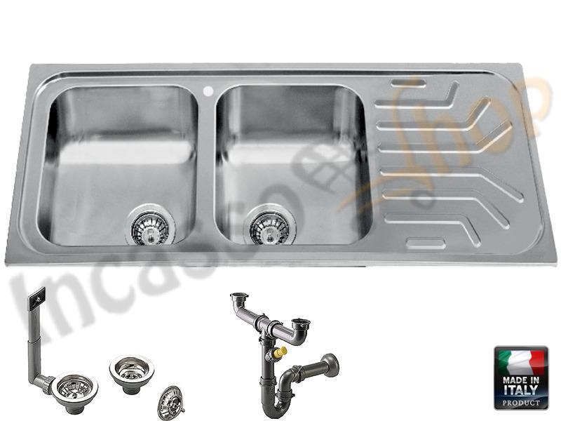 Lavello R.S.Italia Sirius SI1623 SX incasso cucina acciaio inox Sp ...