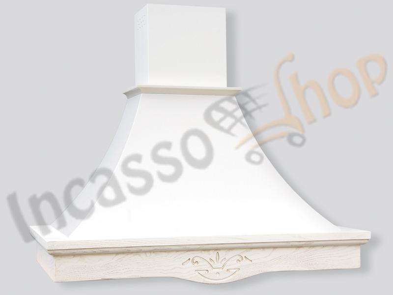 Cappa Cucina Rustica Sparta 60 Cornice Legno Grezzo Scolpito