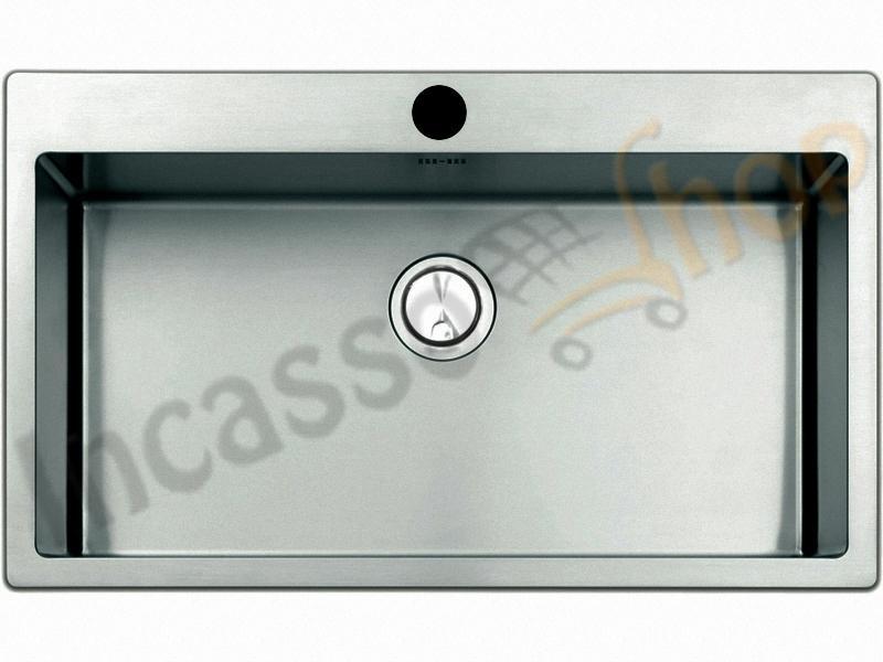 Lavello Cucina Linear Plus Filotop 1 Vasca cm.77X51 Acciaio ...