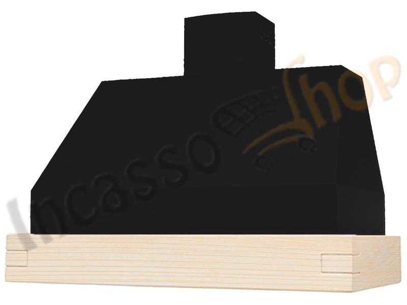 Cappa cucina moderna 90 td306 90nr gr camilla nera legno grezzo