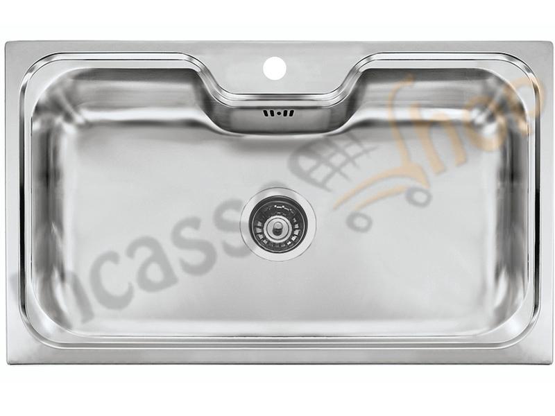 Lavello Cucina Criteria 1 Vasca / Vascone cm.86X50 Acciaio Inox ...