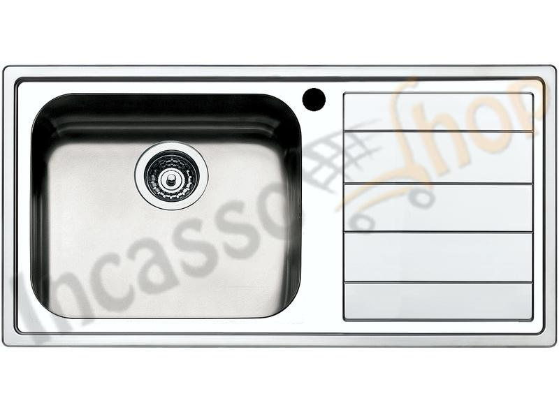 Lavello Cucina 1 Vasca Grande.Lavello Cucina Linear 1 Vasca Maxi Cm 100x50 Acciaio Inox Spazzolato