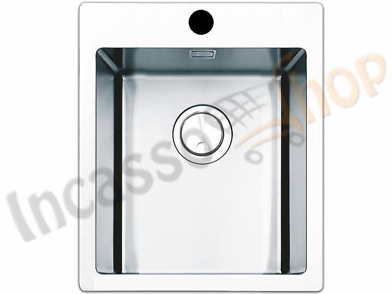 Lavello Cucina Linear Plus 1 Vasca Filotop cm.40X51 Acciaio ...