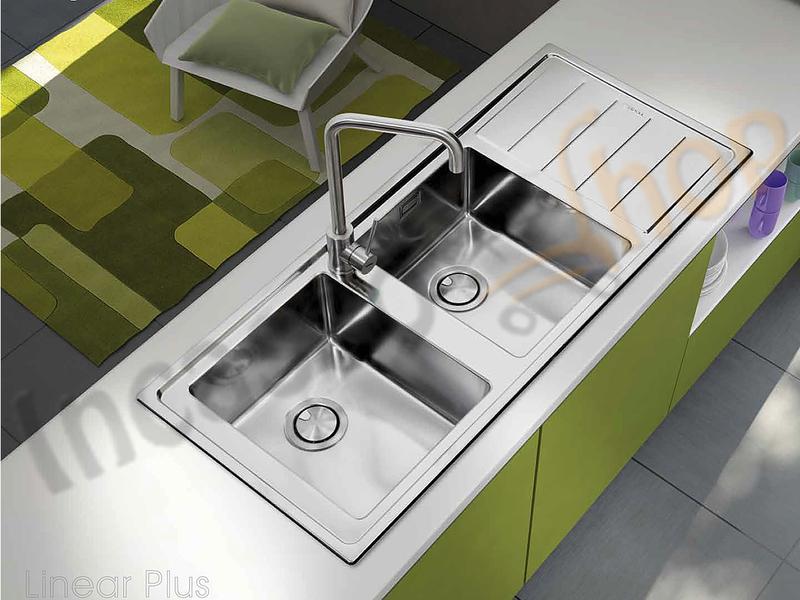 Lavello Cucina Linear Plus 1 Vasca Filotop cm.56X51 Acciaio ...