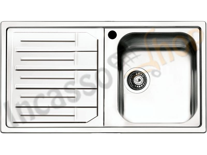 Lavello Cucina Melodia 1 Vasca cm.86X50 Acciaio Inox