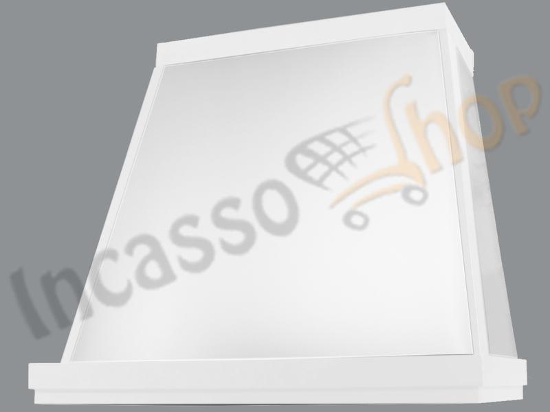 Cappa Cucina Moderna 90 TD313/90BC Diamante Lux Inox / Bianca ...