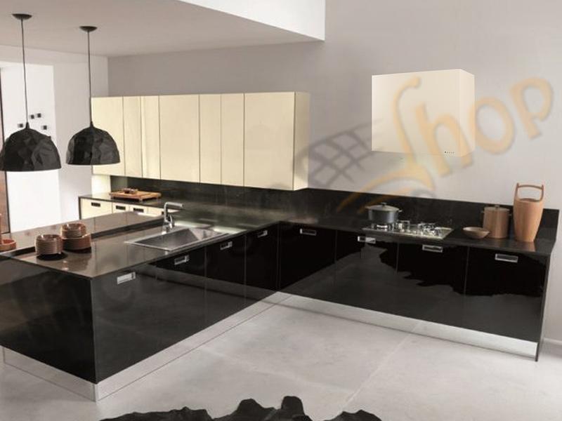 Cappa Cucina Moderna 75 TD317AL Sintesi Verniciata Alluminio ...